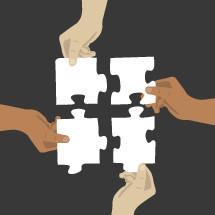 connection, puzzle pieces, puzzle, hands, diversity