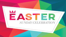 Easter Sunday service background in modern poly