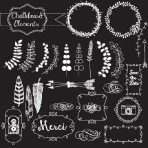 chalkboard elements set