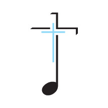cross on a music note