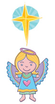 Nativity angel in a cartoon style for suitable for kids