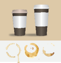 coffee cups and stains