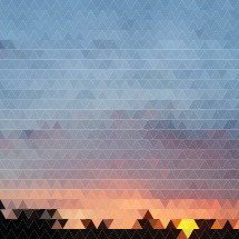 sunset poly triangular background
