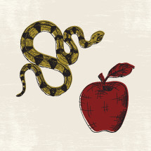 serpent and apple illustrations.
