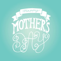 Happy Mother's day title typography.