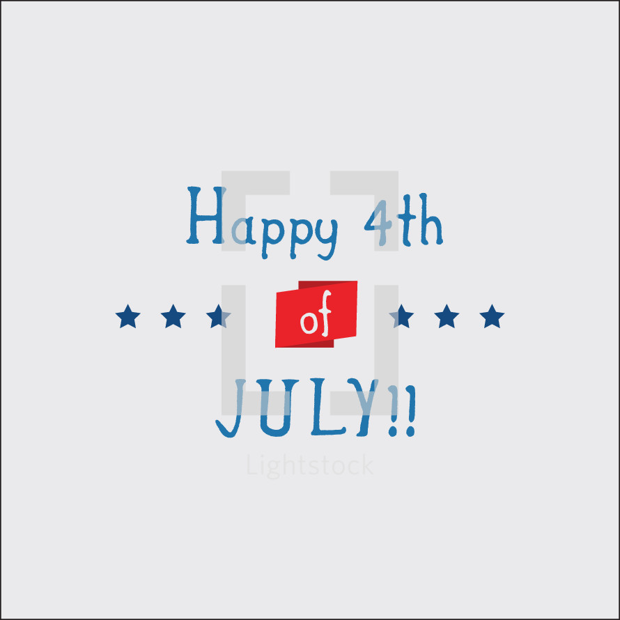fourth of july vector red white and blue