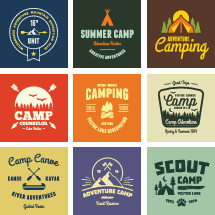 Camp graphics & badges