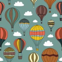 hot air balloons pattern