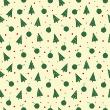 Christmas pattern, green, ornaments, white, red berries, Christmas trees, background, holidays, pattern