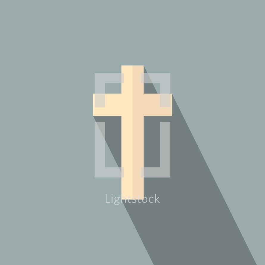 modern cross and shadow illustration.