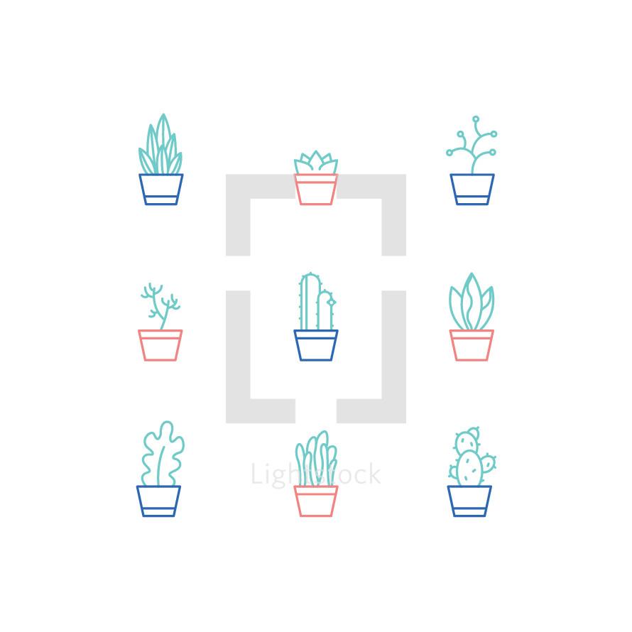 house plants icons