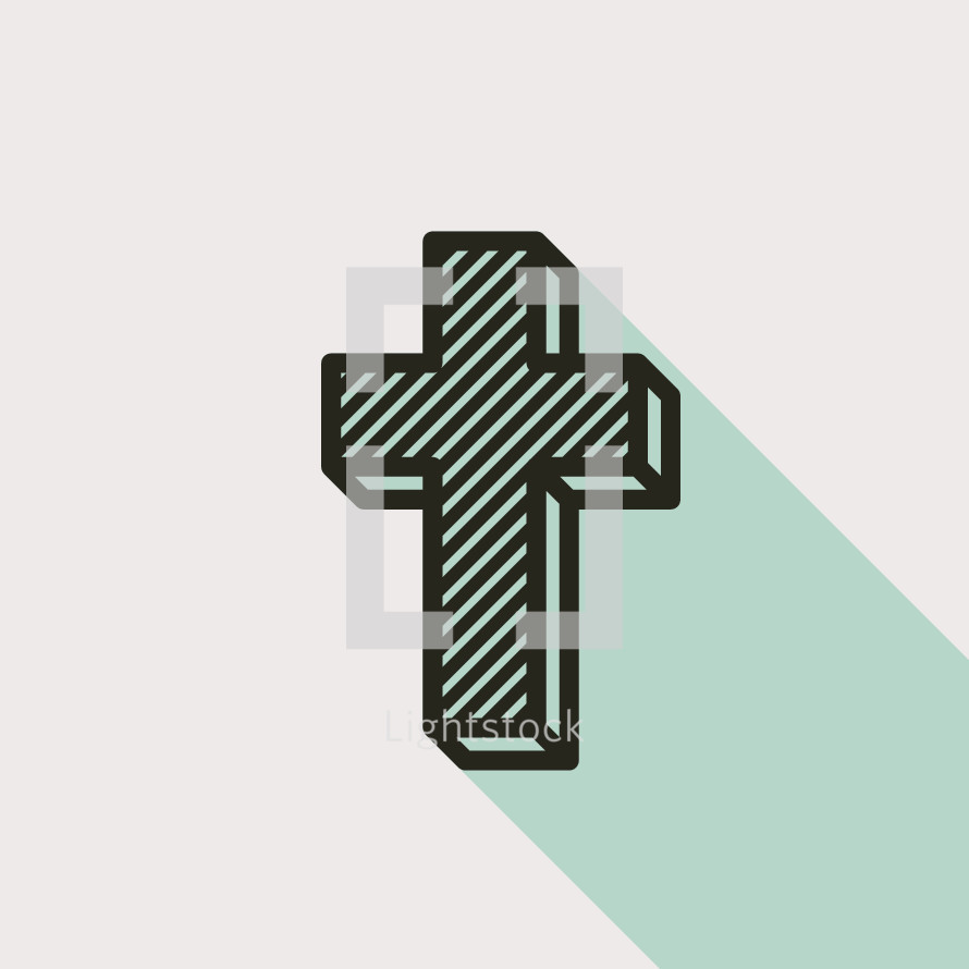 cross with lines and shadow
