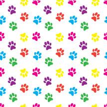 rainbow paw print pattern