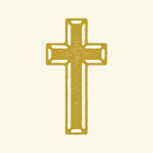 gold beveled cross icon