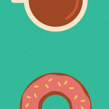 coffee and donuts illustration.