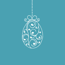 hanging Easter egg ornament