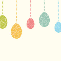 hanging Easter egg ornaments