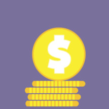 Vector coin graphic for offering or fundraising