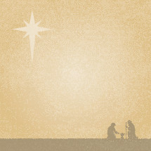 A Christmas nativity background in gold colors.