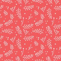 Christmas foliage pattern