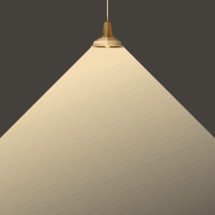radiating pendant lamp