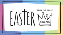 Easter resurrection pastels background with lettering