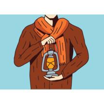 man with a lantern