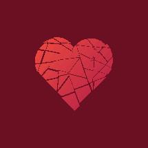 shattered heart illustration.