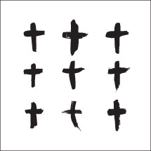 painted crosses set.