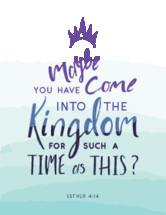 Maybe you have come into the kingdom for such a time as this? Esther 4:14