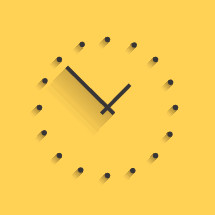 modern clock illustration.