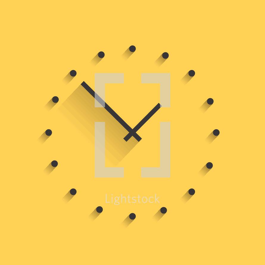 modern clock illustration.