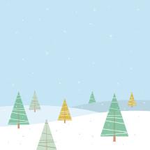 Christmas snow illustration