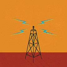communication tower illustration.