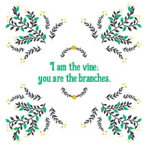 I am the vine you are the branches, John 15:5