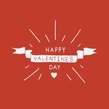 Hand drawn Happy Valentines day design.