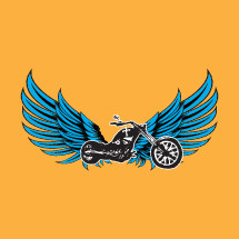 wings on a motorcycle illustration
