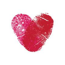 fingerprint heart illustration.