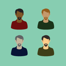 men of various races
