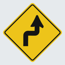 Turn street sign