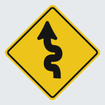 Winding Road street sign