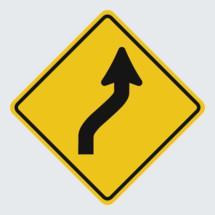 Slight Turn street sign