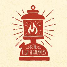 Lantern illustration with text
