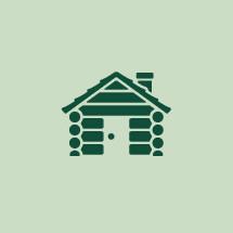 Log cabin graphic
