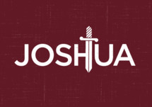 Joshua logo with a sword
