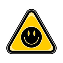 sticker yellow smiley face