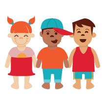 children holding hands
