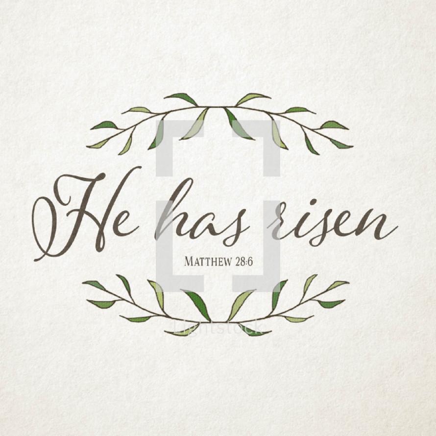 He is Risen Matthew 28:6