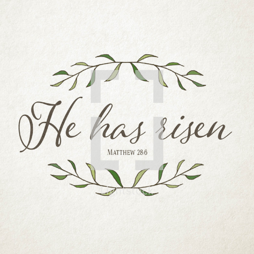 He is Risen Matthew 28:6