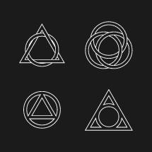 Holy trinity symbols.